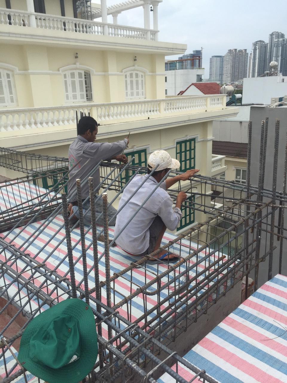 xây dựng nhà phần thô 4 tầng rông rãi