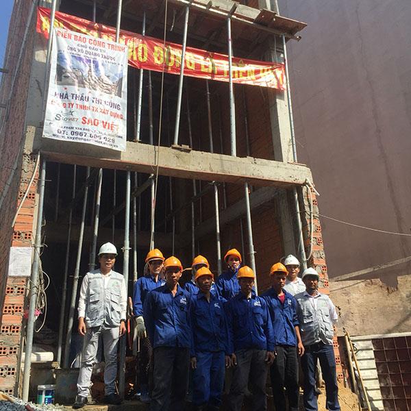 xây dựng nhà phần thô tại TP HCM